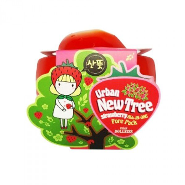 Urban Dollkiss New Tree Strawberry All-In-One Pore Pack - Маска для лица от расшир. пор
