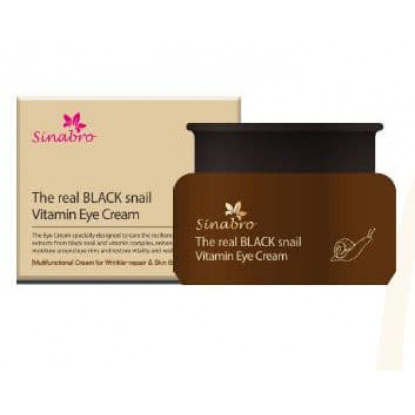 The real black snail vitamin eye cream - Крем витаминный  для кожи вокруг глаз с экстрактом настоящей ЧЕРНОЙ улитки