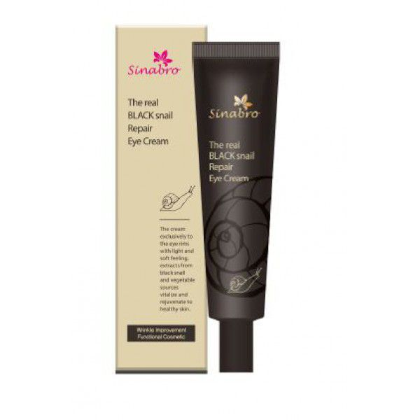The real black snail repair eye cream - Крем восстанавливающий  для кожи вокруг глаз с экстрактом настоящей ЧЕРНОЙ улитки