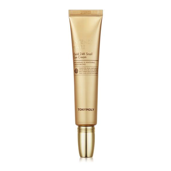 Intense Care Gold 24K Snail Eye Cream - Крем для глаз с муцином улитки и золотом