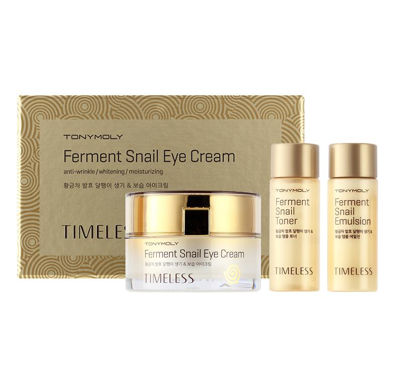 Timeless Ferment Snail Eye Cream - Крем для глаз с улиточным экстрактом (набор)
