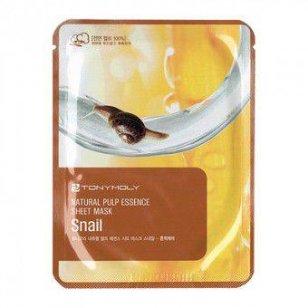 TonyMoly Natural Pulp Essence Sheet Mask-snail - Тканевая маска с экстрактом улитки