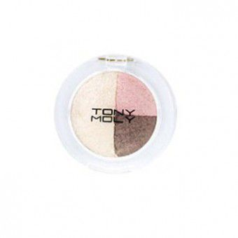 TonyMoly Party Lover Triple Dome Eye Shadow 02 Café Mocha - Тени тройные