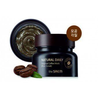 The Saem Natural Daily Original Coffee Mask (Pore Scrub) - Кофейная маска-скраб для кожи с расширенными порами