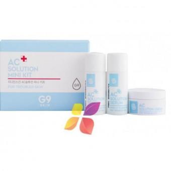 Berrisom Ac Solution Mini Kit - Набор миниатюр для проблемной кожи