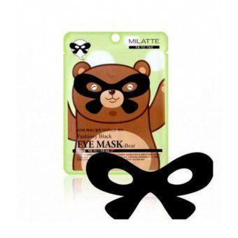 Milatte Fashiony Black Eye Mask-Bear - Маска от морщин вокруг глаз