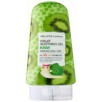 Milatte Fashiony Fruit Soothing Gel - Kiwi - Гель для лица и тела многофункциональный