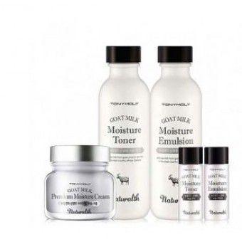 TonyMoly Naturalth Goat Milk Premium Moisture Skin Care Set - Увлажняющий набор для ухода за кожей