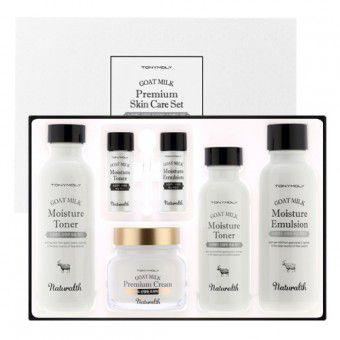 TonyMoly Naturalth Goat Milk Premium Skin Care Set - Увлажняющий набор для ухода за кожей