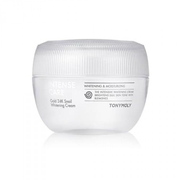 Intense Care Gold 24K Snail Whitening Cream - Отбеливающий крем для лица с золотом и муцином улитки