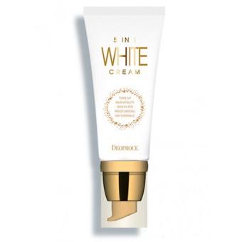 Deoproce 5 In 1 White Cream - Многофункциональный отбеливающий крем
