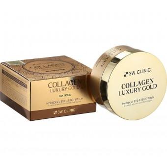 3W Clinic Collagen & Luxury Gold Hydrogel Eye & Spot Patch - Гидрогелевые патчи с коллагеном и золотом