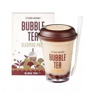 Etude House Bubble Tea Sleeping Pack Black Tea - Ночная маска для лица