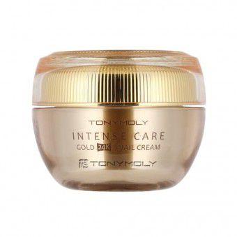 TonyMoly Intense Care Gold 24K Snail Cream - Крем улиточный с золотом для лица антивозрастной