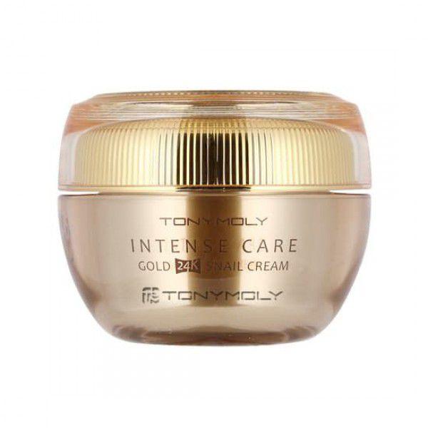 Intense Care Gold 24K Snail Cream - Крем улиточный с золотом для лица антивозрастной
