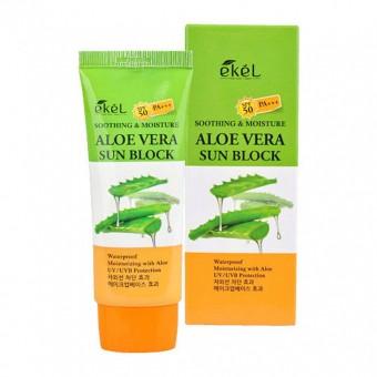 Ekel UV Soothing & Moisture Aloe Vera Sun Block SPF50 PA+++ - Солнцезащитный крем с алоэ вера