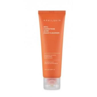 AprilSkin Real Carrotene Acne Foam Cleanser - Пенка для умывания от акне
