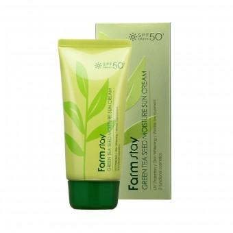 Farm Stay Green Tea Seed Moisture Sun Cream SPF50+ PA+++ - Cолнцезащитный крем с семенами зеленого чая
