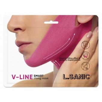 L'Sanic V-Line Smart Lifting Mask - Маска-бандаж для коррекции овала лица