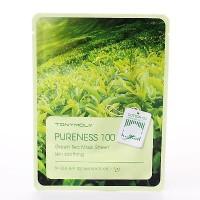 Pureness 100 Green Tea Mask Sheet - Тканевая маска для лица зеленый чай