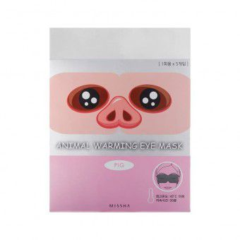 Missha Animal Warming Eye Mask_Pig (Jasmine Fragrance) - Маска для глаз