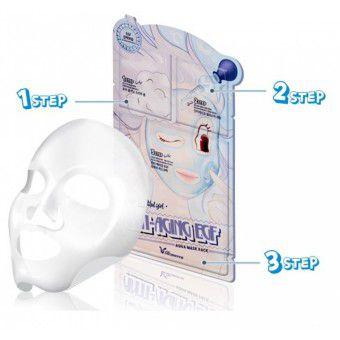 Elizavecca 3-Step Anti-Aging EGF Aqua Mask Sheet - Маска трехступенчатая антивозрастная