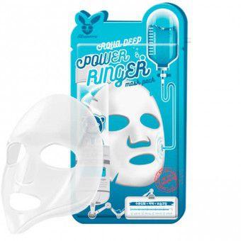 Elizavecca Aqua Deep Power Ringer Mask Pack - Увлажняющая тканевая маска для лица с гиалуроновой кислотой