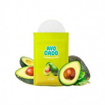Scinic Avocado Cleansing Milk Pads - Очищающие cпонжи для снятия макияжа