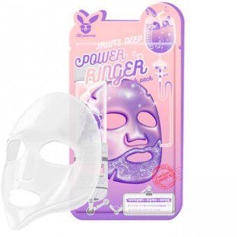 Elizavecca Fruits Deep Power Ringer Mask Pack - Тонизирующая тканевая маска для лица с фруктовыми экстрактами