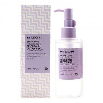 Mizon Great Pure Cleansing Oil - Очищающее масло для снятия ББ крема и макияжа любой сложности