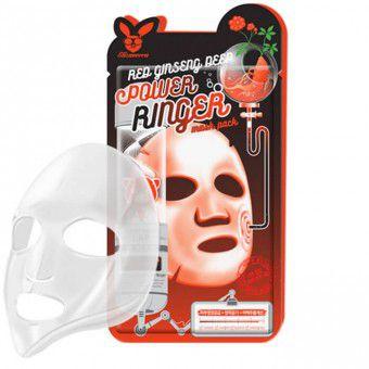 Elizavecca Red Ginseng Deep Power Ringer Mask Pack - Регенерирующая тканевая маска для лица с экстрактом красного женьшеня