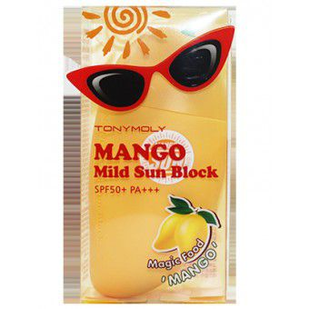 TonyMoly Magic Food Mango Mild Sun Block - Крем солнцезащитный