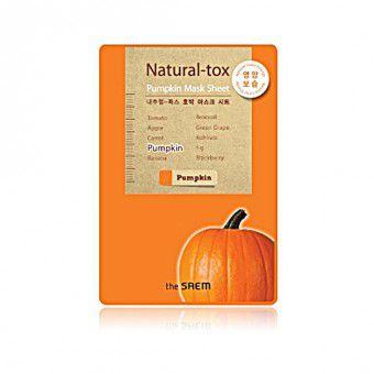 The Saem Natural – tox Pumpkin Mask Sheet - Маска - детокс