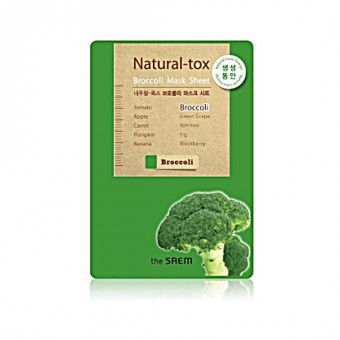 The Saem Natural – tox Broccoli Mask Sheet - Маска - детокс