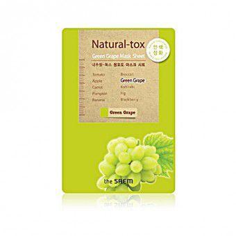 The Saem Natural – tox Green Grape Mask Sheet - Маска - детокс