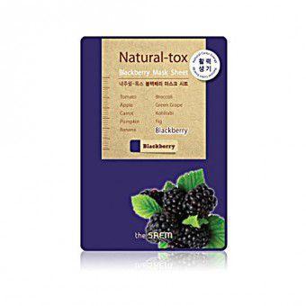 The Saem Natural – tox Blackberry Mask Sheet - Маска - детокс