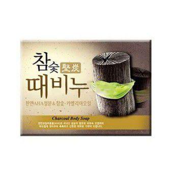Mukunghwa Hardwood Charcoal Scrub Soap - Мыло-скраб древесный уголь