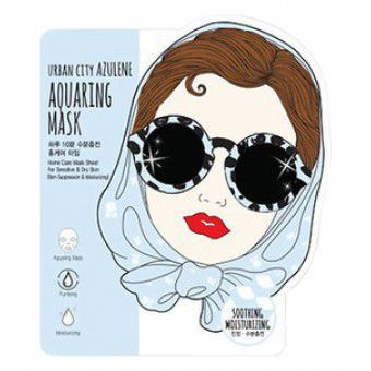 Baviphat Urban City Azulene Aquaing Mask_Soothing-Moisturizing - Тканевая маска для лица с азуленом