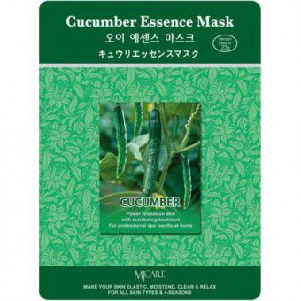 Mijin Cucumber Essence Mask - Тканевая маска с экстрактом огурца