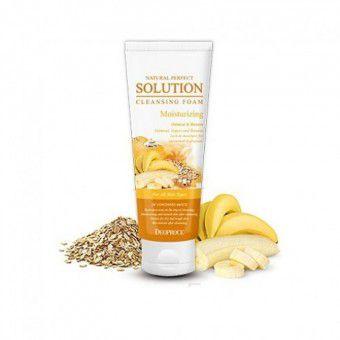 Deoproce Natural Perfect Solution Cleansing Foam Moisturizing - Пенка для умывания с овсянкой, бананом
