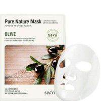 Secriss Pure Nature Mask Pack-Olive - Маска для лица тканевая с оливой