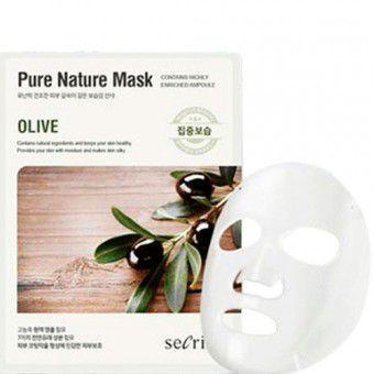 Anskin Secriss Pure Nature Mask Pack-Olive - Маска для лица тканевая с оливой