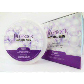 Deoproce Natural Skin Pearl Nourishing Cream - Крем для лица и тела питательный с экстрактом жемчуга