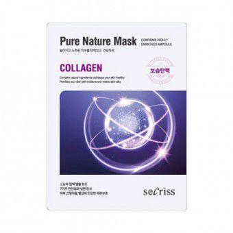 Anskin Secriss Pure Nature Mask Pack- Collagen -  Маска для лица тканевая с коллагеном