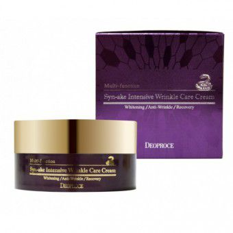 Deoproce Syn-Ake Intensive Wrinkle Care Cream -  Крем для лица со змеиным ядом