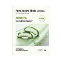 Secriss Pure Nature Mask Pack- Aloevera - Маска для лица тканевая алоэ вера