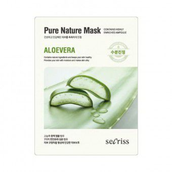 Anskin Secriss Pure Nature Mask Pack- Aloevera - Маска для лица тканевая алоэ вера