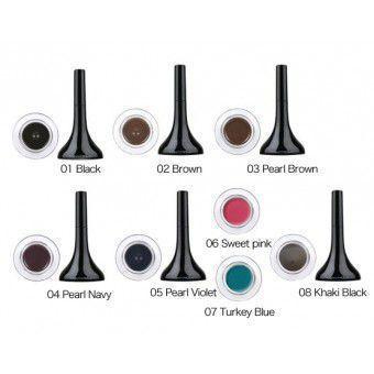 TonyMoly Backstage gel eyeliner 08 - khaki black - Гелевая подводка для глаз