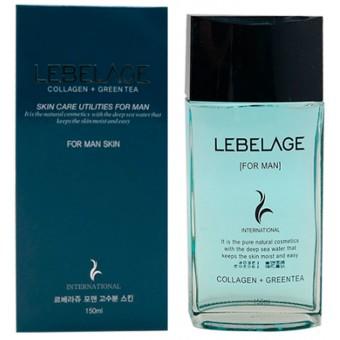 Lebelage Collagen + Green Tea Skin Care Utilites For Men Skin - Тонер для мужчин с коллагеном и зеленым чаем