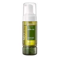 Dermalogy Real Fresh Foam Green Tea - Пенка для умывания с листьями зеленого чая
